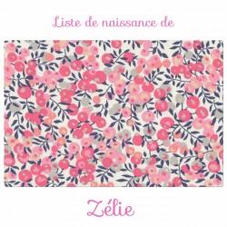 Liste de naissance de Zélie
